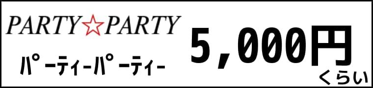 パーティーパーティーの婚活パーティーは参加費が5,000円くらい