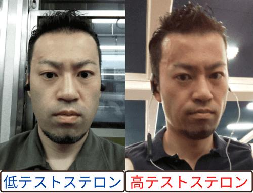 テストステロンの顔つき変化