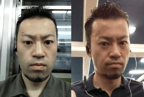 テストステロンで顔つきの変化