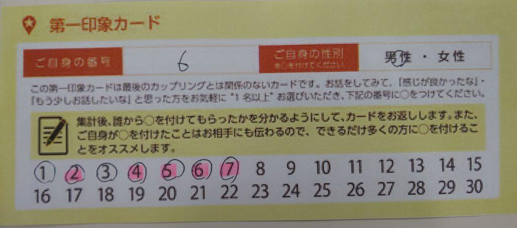 オトコンの第一印象カード
